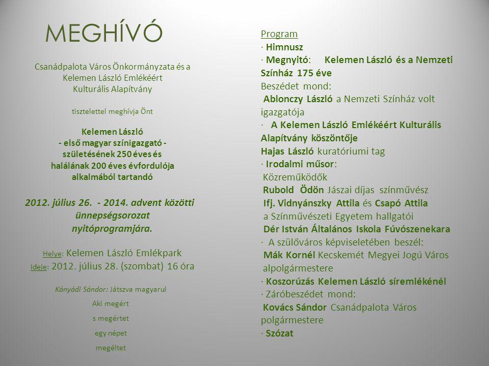 MEGHÍVÓ Program · Himnusz