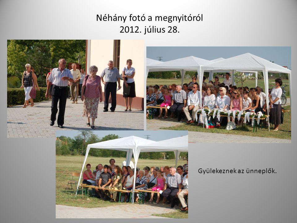 Néhány fotó a megnyitóról 2012. július 28.