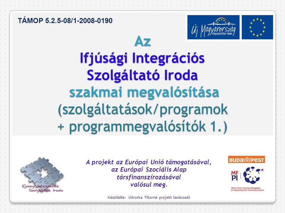 Az Ifjúsági Integrációs Szolgáltató Iroda szakmai megvalósítása (szolgáltatások/programok + programmegvalósítók 1.)