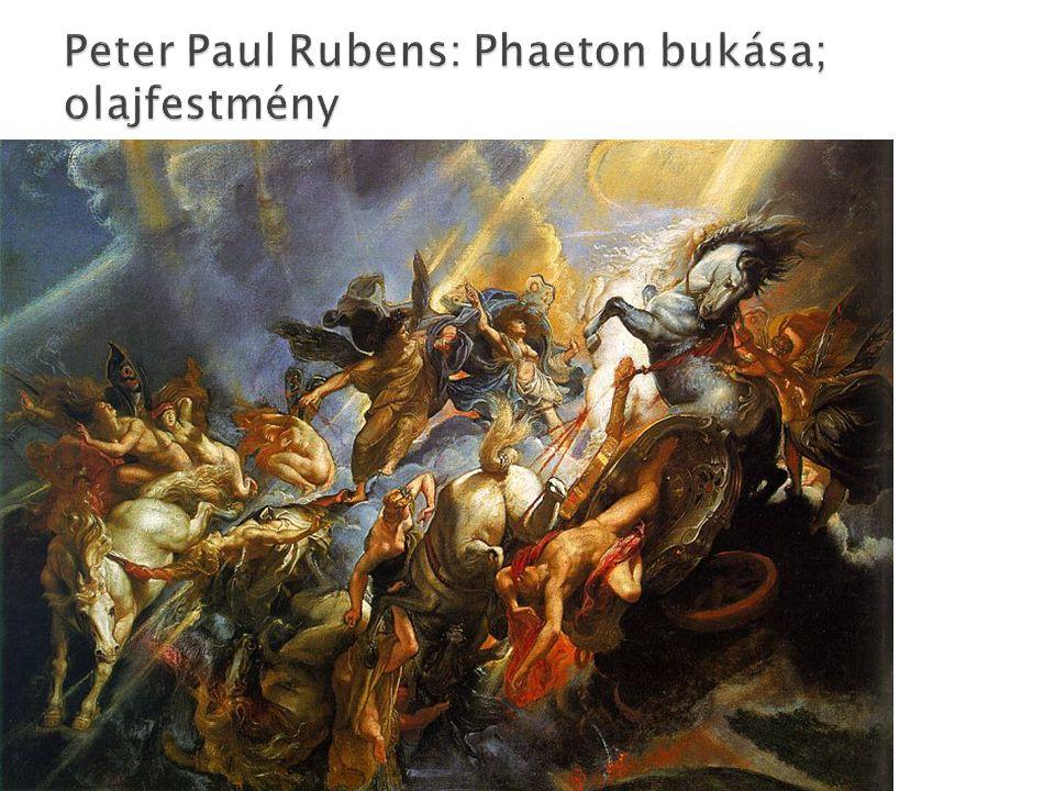Peter Paul Rubens: Phaeton bukása; olajfestmény