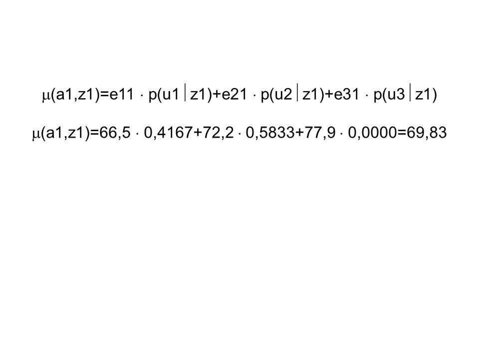 (a1,z1)=e11  p(u1z1)+e21  p(u2z1)+e31  p(u3z1)