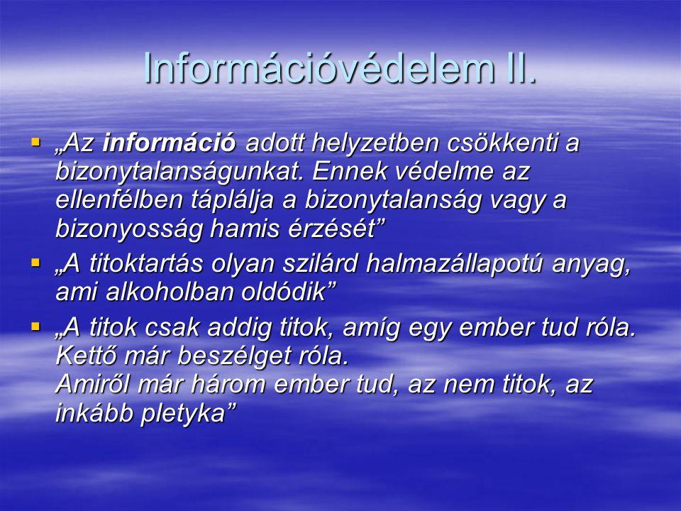 Információvédelem II.