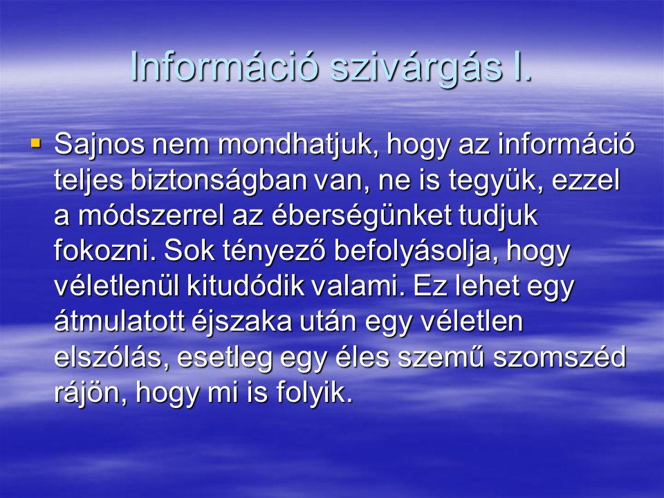Információ szivárgás I.