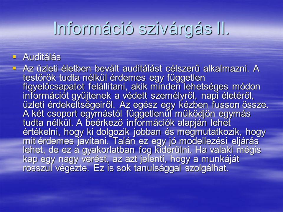 Információ szivárgás II.