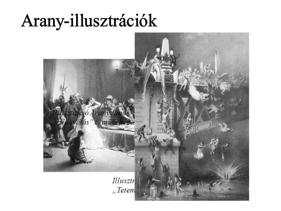 """Arany-illusztrációk Illusztráció Arany János """"Hídavatás c. művéhez"""