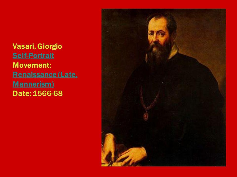 Vasari, Giorgio Self-Portrait Movement: Renaissance (Late, Mannerism) Date: 1566-68