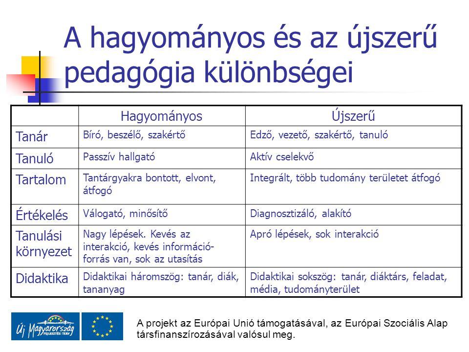 A hagyományos és az újszerű pedagógia különbségei