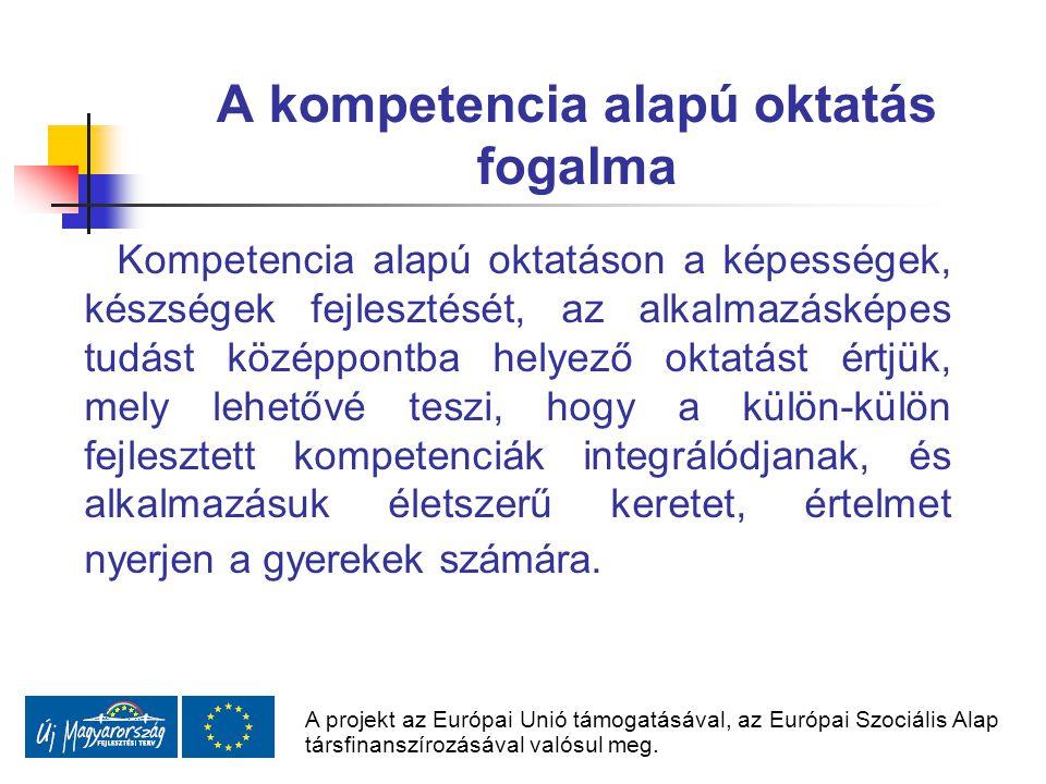 A kompetencia alapú oktatás fogalma