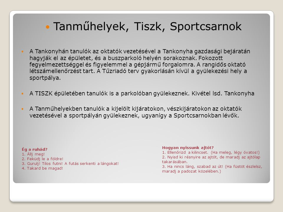 Tanműhelyek, Tiszk, Sportcsarnok