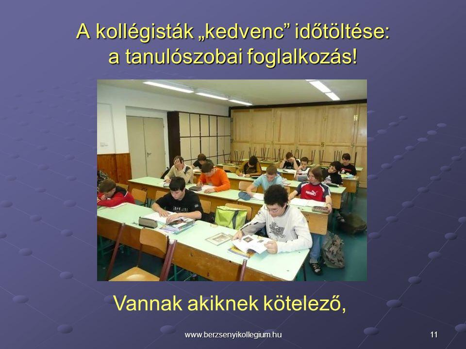"""A kollégisták """"kedvenc időtöltése: a tanulószobai foglalkozás!"""
