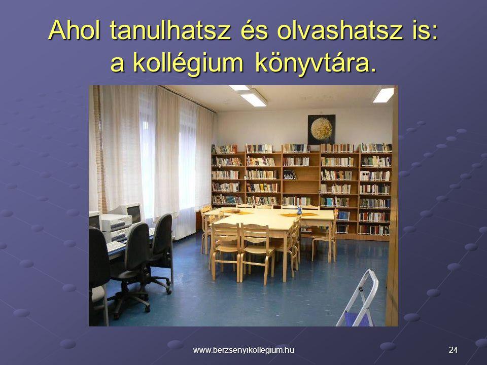 Ahol tanulhatsz és olvashatsz is: a kollégium könyvtára.