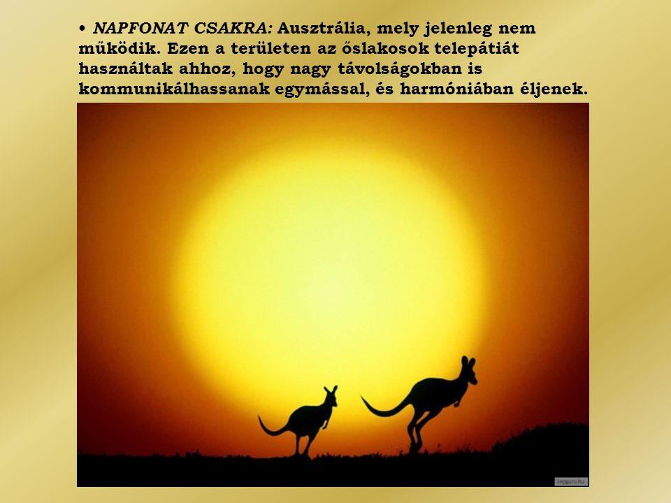 • NAPFONAT CSAKRA: Ausztrália, mely jelenleg nem működik