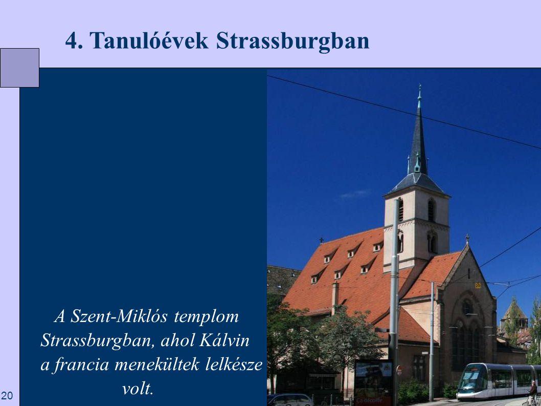 4. Tanulóévek Strassburgban