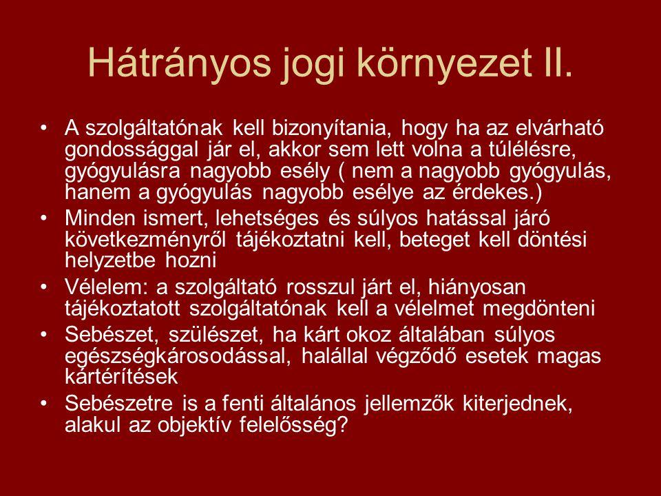 Hátrányos jogi környezet II.