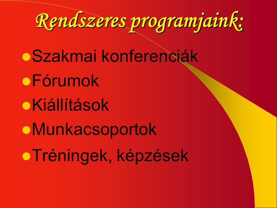 Rendszeres programjaink: