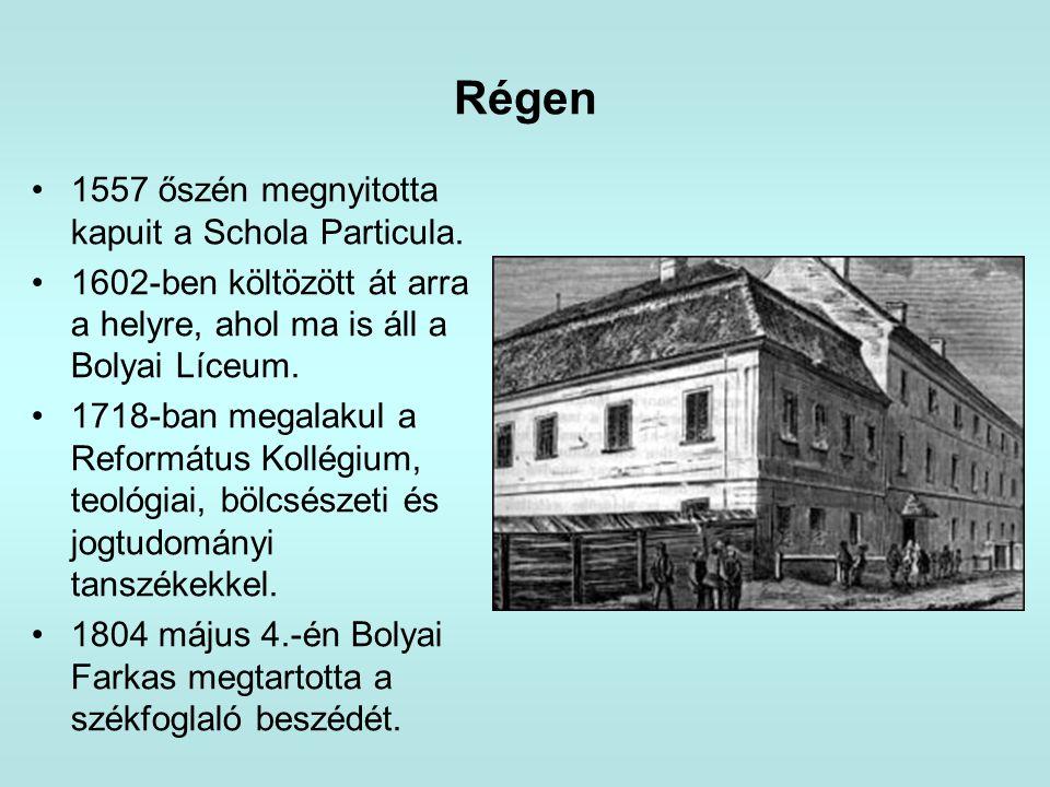 Régen 1557 őszén megnyitotta kapuit a Schola Particula.