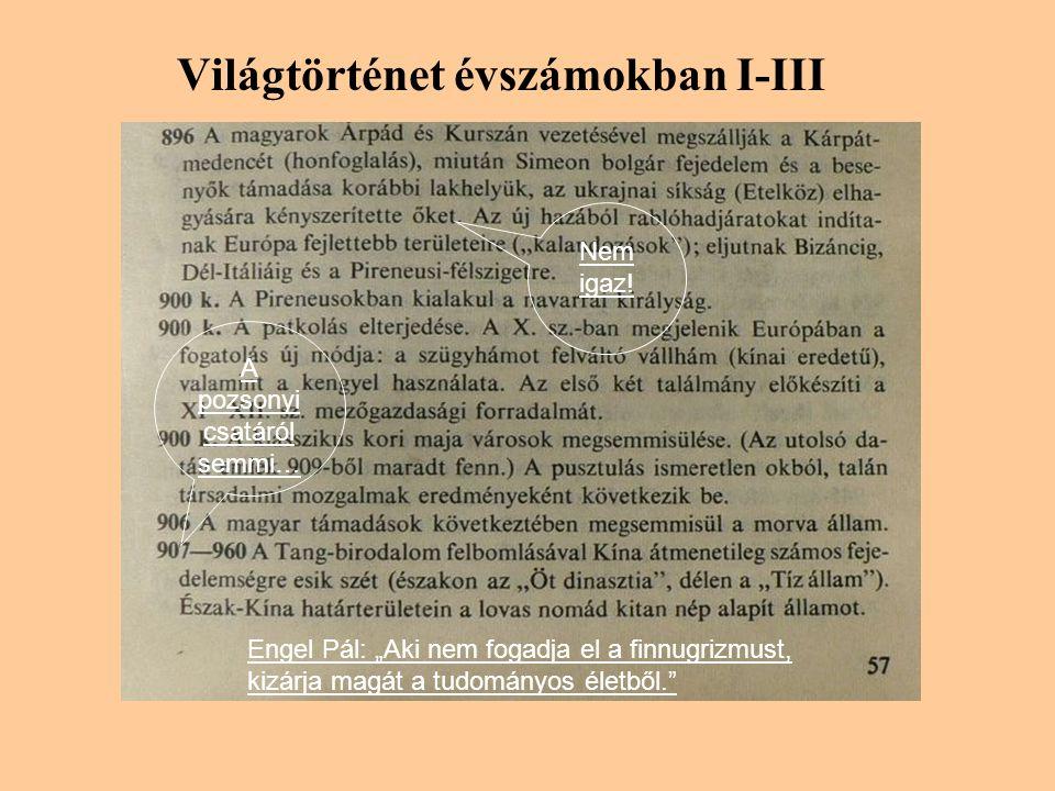 Világtörténet évszámokban I-III