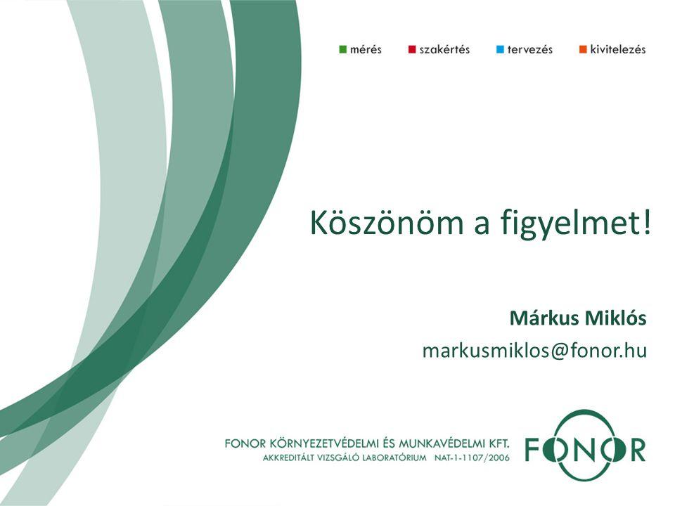 Köszönöm a figyelmet! Márkus Miklós markusmiklos@fonor.hu