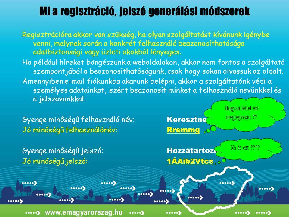 Mi a regisztráció, jelszó generálási módszerek