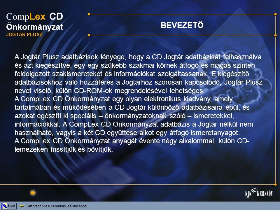 CompLex CD Önkormányzat BEVEZETŐ