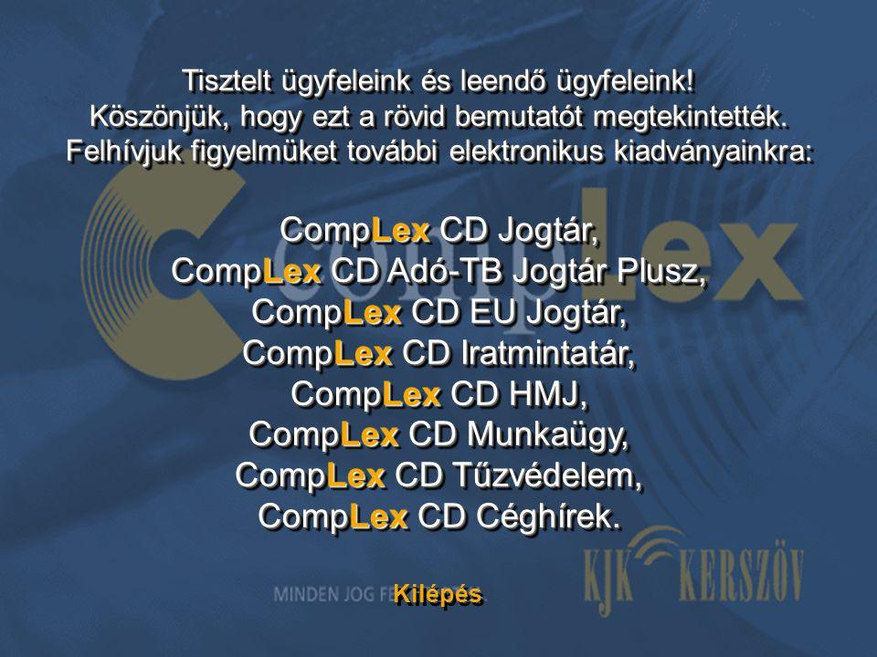 CompLex CD Adó-TB Jogtár Plusz, CompLex CD EU Jogtár,