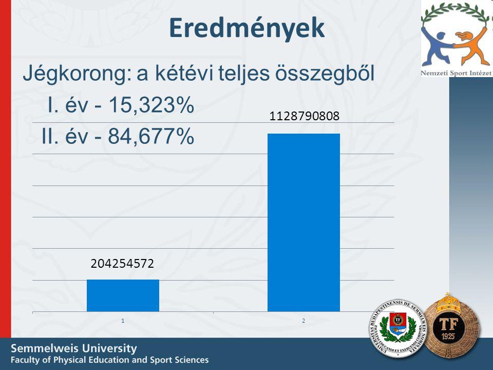 Eredmények Jégkorong: a kétévi teljes összegből I. év - 15,323%