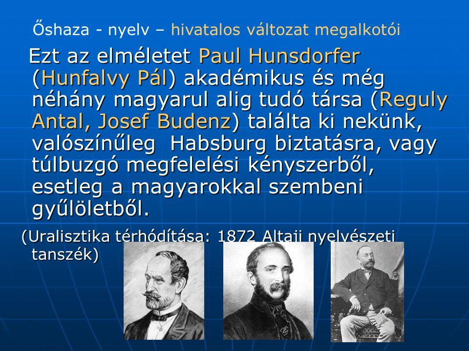 (Uralisztika térhódítása: 1872 Altaji nyelvészeti tanszék)