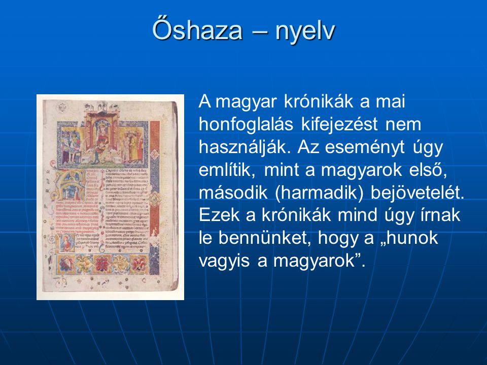 Őshaza – nyelv