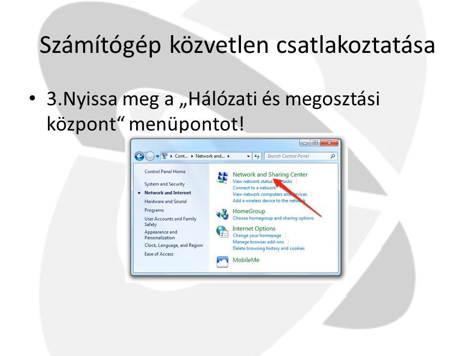 Számítógép közvetlen csatlakoztatása