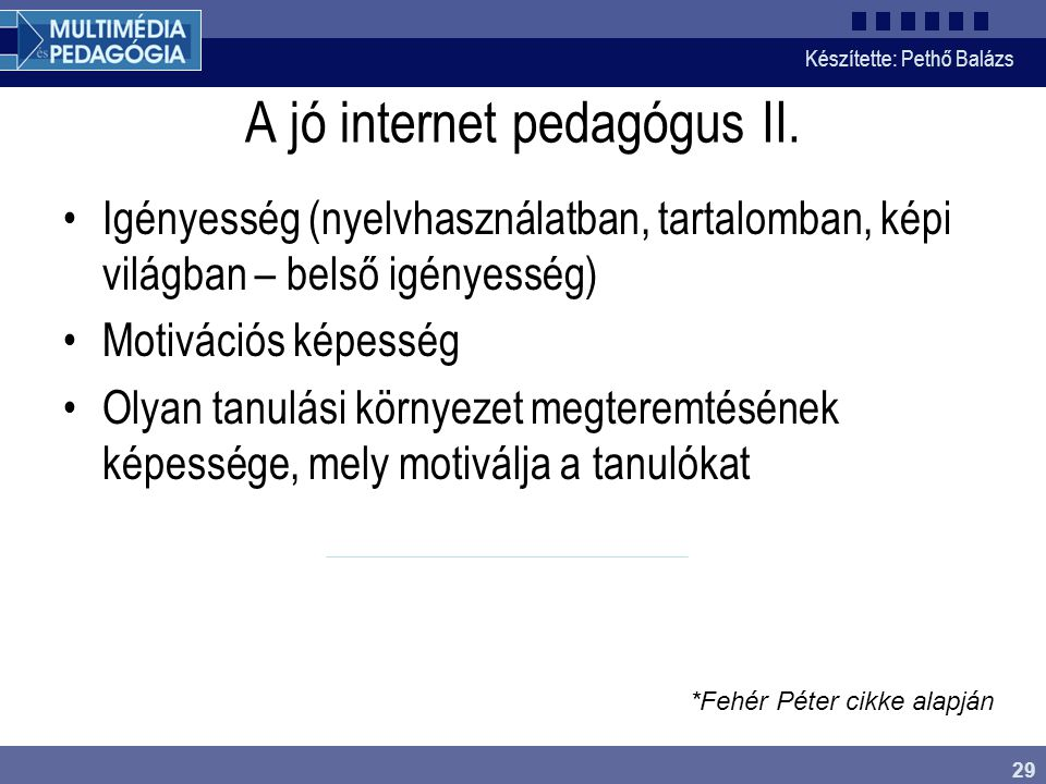 A jó internet pedagógus II.