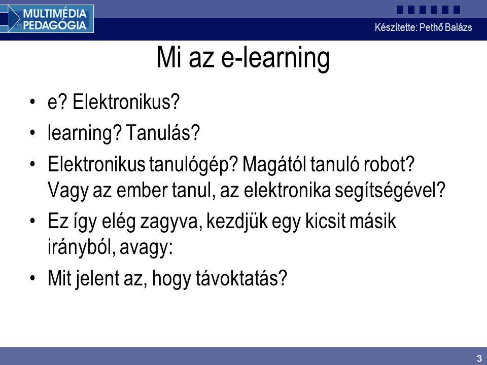 Mi az e-learning e Elektronikus learning Tanulás