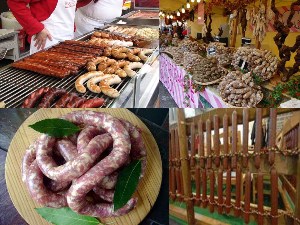 A sváb Bauern-brat-wursthoz például kevés frissen reszelt citromhéjat is kevernek (ezt citromos kolbász néven a magyar konyha is ismerte),