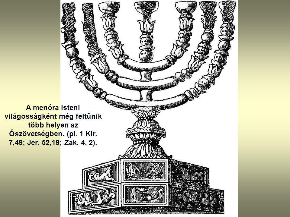 A menóra isteni világosságként még feltűnik több helyen az Ószövetségben.