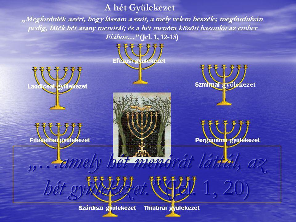"""""""…amely hét menórát láttál, az hét gyülekezet. (Jel. 1, 20)"""