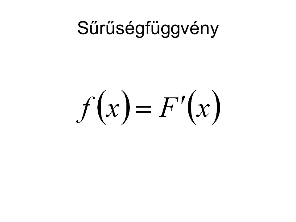 Sűrűségfüggvény