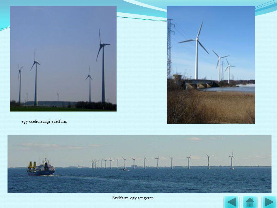 egy csehországi szélfarm