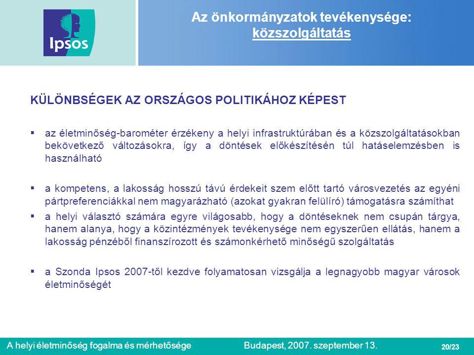 Az önkormányzatok tevékenysége: közszolgáltatás
