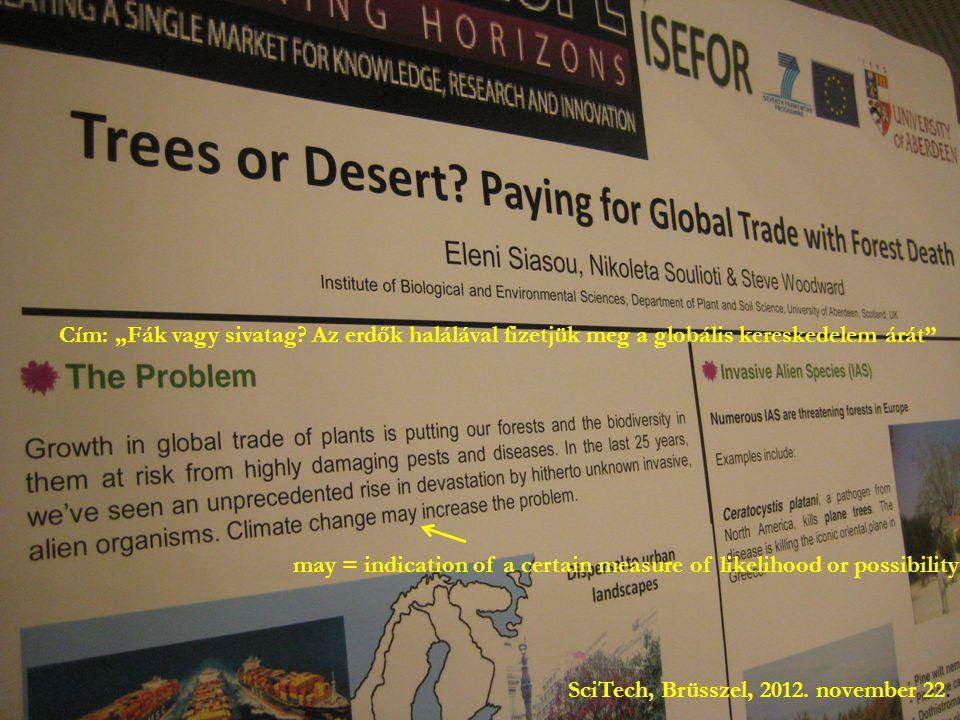 """Cím: """"Fák vagy sivatag Az erdők halálával fizetjük meg a globális kereskedelem árát"""