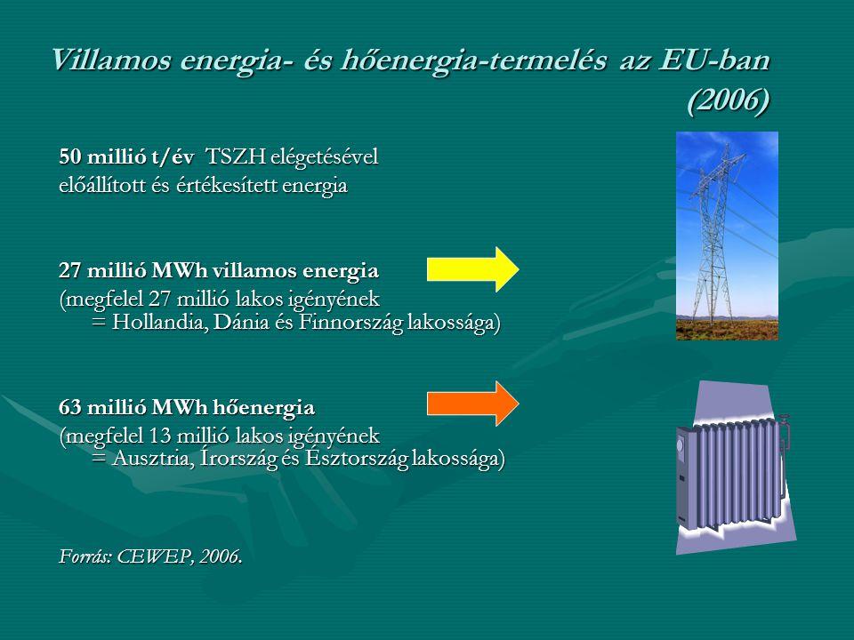 Villamos energia- és hőenergia-termelés az EU-ban (2006)