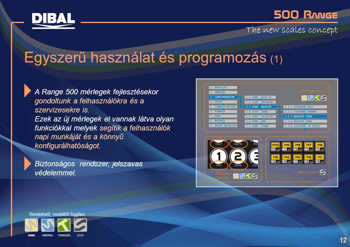Egyszerű használat és programozás (1)