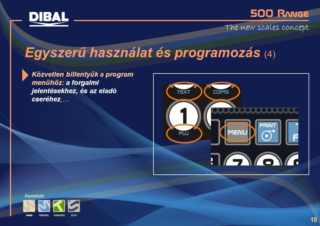 Egyszerű használat és programozás (4)