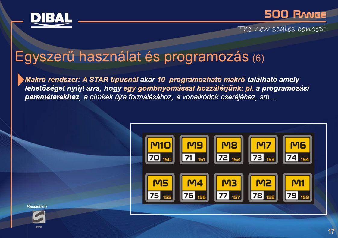Egyszerű használat és programozás (6)