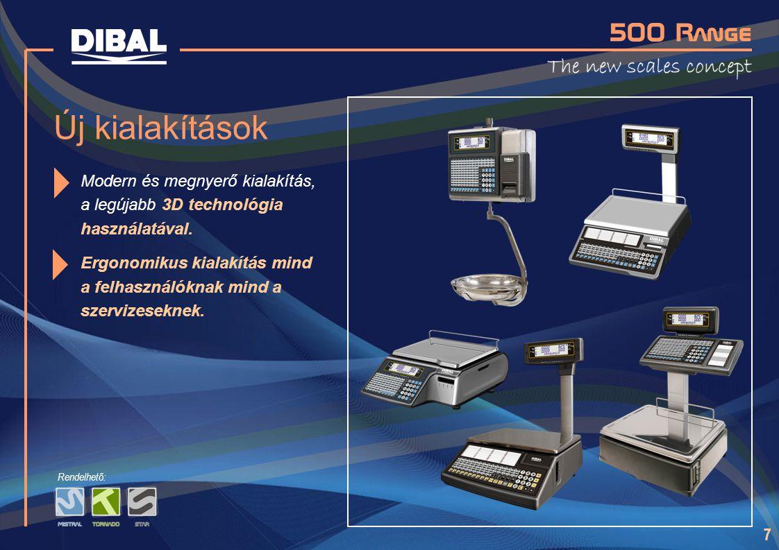 Új kialakítások Modern és megnyerő kialakítás, a legújabb 3D technológia használatával.