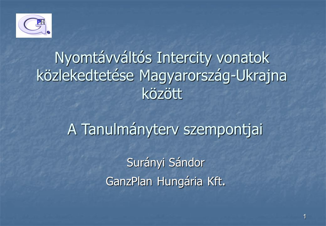 Surányi Sándor GanzPlan Hungária Kft.