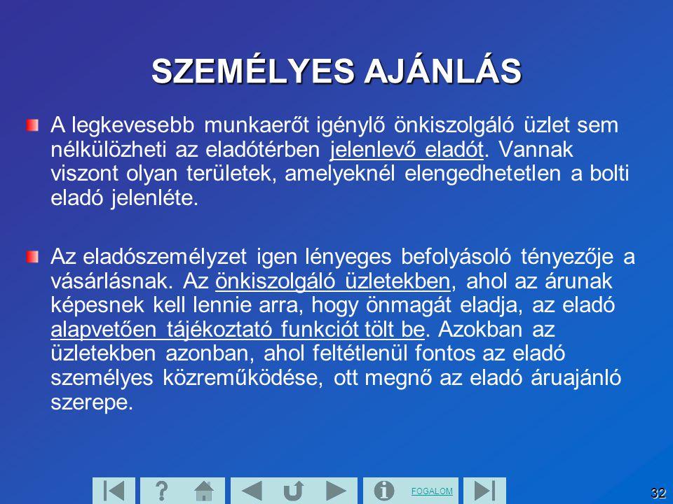 SZEMÉLYES AJÁNLÁS