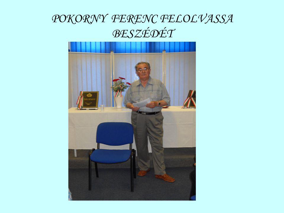 POKORNY FERENC FELOLVASSA BESZÉDÉT
