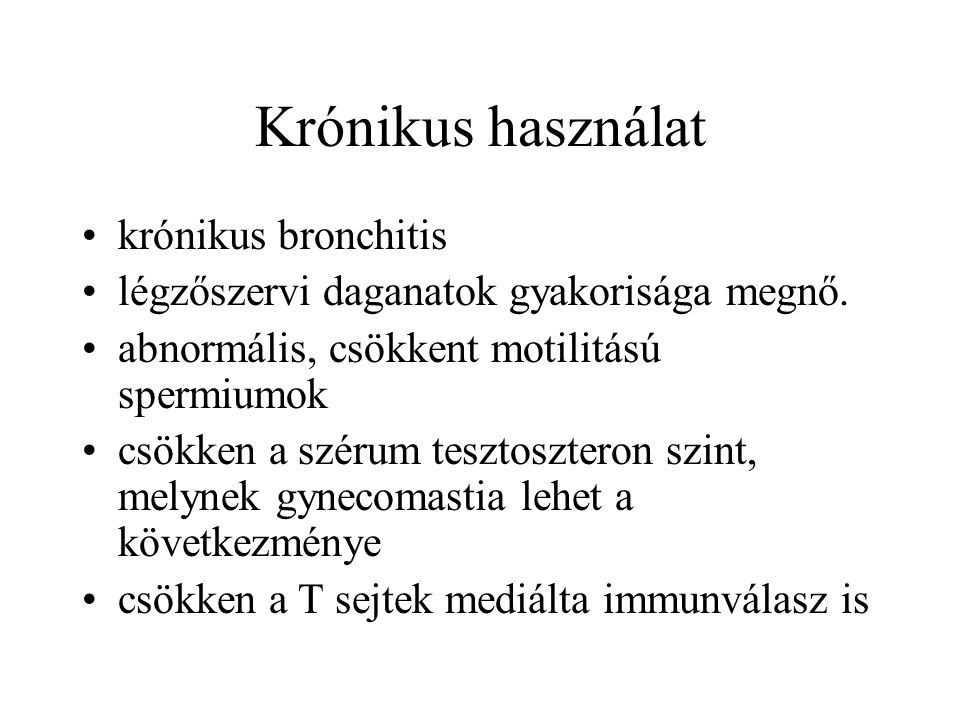 Krónikus használat krónikus bronchitis