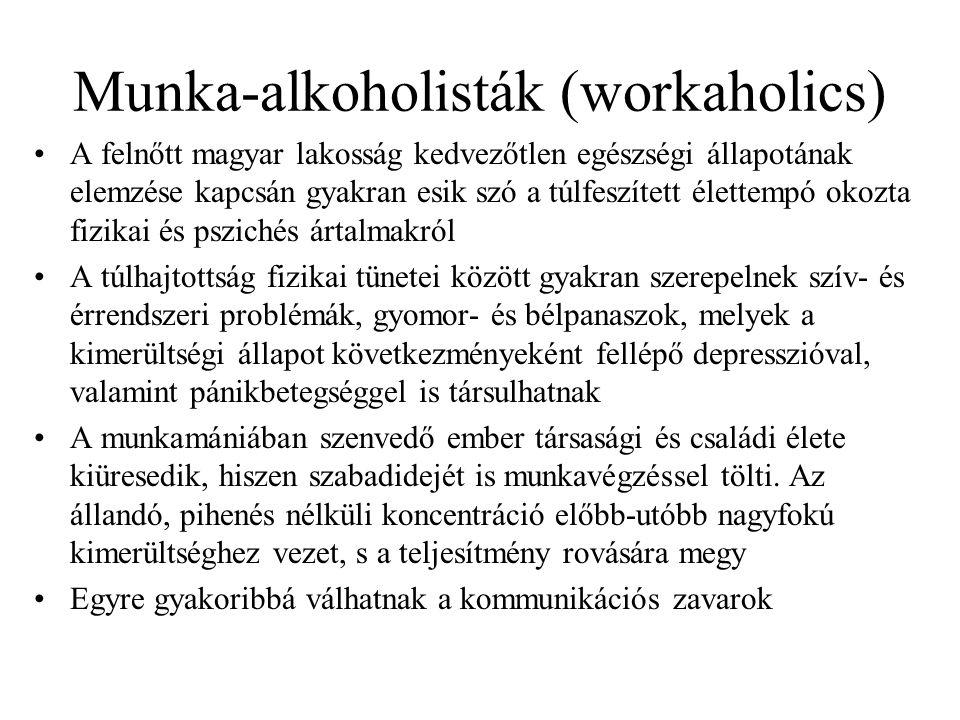 Munka-alkoholisták (workaholics)