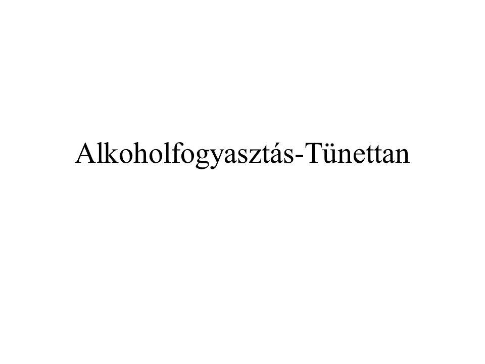 Alkoholfogyasztás-Tünettan