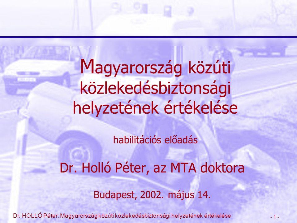 Magyarország közúti közlekedésbiztonsági helyzetének értékelése